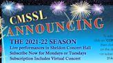 Chamber Music Society of STL Announces 2021-22 Season
