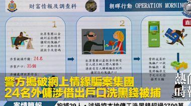 警方搗破網上情緣騙案集團 24名外傭涉借出戶口洗黑錢被捕