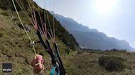 Daredevil Duo Enjoy Speed Flying in Austrian Alps