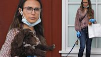 Jordana Brewster keeps up with her newly adopted dog