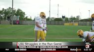 LSU offensive line working to improve ground game