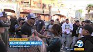 Fighter Chuck Liddell works to calm tensions in Huntington Beach