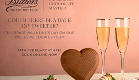 Butlers is hosting a exclusive couples Valentine's Day chocolate factory tour