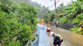 盧碧颱風致災 樹倒邊坡崩