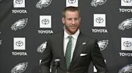 Carson Wentz reacts to new contract with Eagles