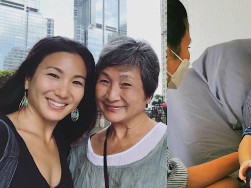 75歲鄭佩佩原子鏸母子團聚近況曝光 綁上固定帶護腰健康令人擔憂