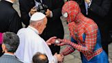 'Spider-Man' meets the pope