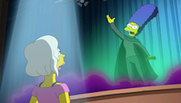 Watch Kristen Bell sing as Marge in the Simpsons musical premiere