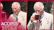 Prince Charles Raises A Glass & Sips A Pint Of Beer With Camila During Lunch Date