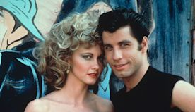 John Travolta and Olivia Newton-John dress in 'Grease' getups