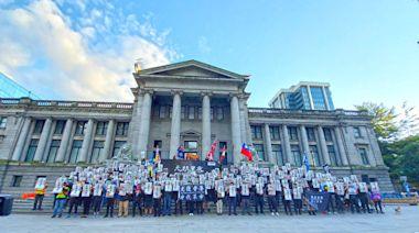 悼元朗暴襲與蘋果日報 300人溫哥華快閃集會