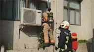 海洋大學驚傳火警 實驗室冷氣機突竄火煙