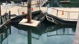 日月潭降雨水位升 浮排、浮橋意外「受災」