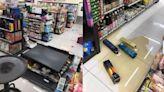 規模6.2地震!花蓮超商貨架整排塌 寶雅商品整袋甩落地