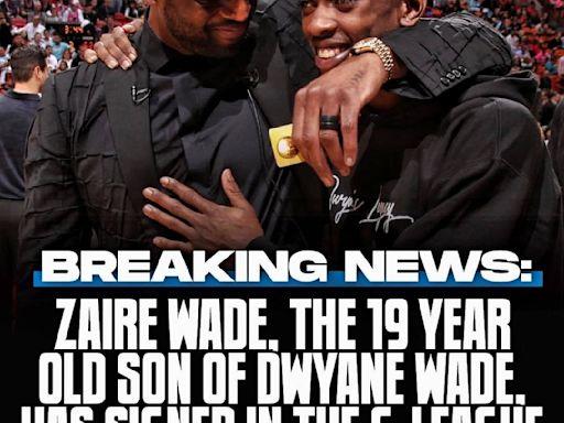 NBA/兒子選秀加入G聯盟爵士 韋德:為人父驕傲一刻