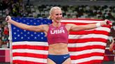 Olympics-Athletics-American Nageotte overcomes shaky start to vault to gold