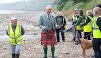 Prince Charles Just Wore a Kilt to the Beach — See His Tartan-and-Knee Socks Style