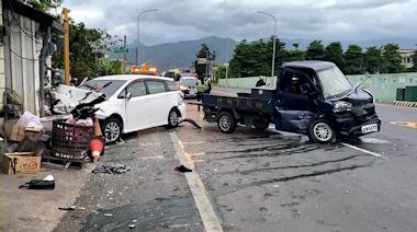 台東小貨車搶快左轉釀4傷 民宅牆壁遭猛撞龜裂 | 蘋果新聞網 | 蘋果日報