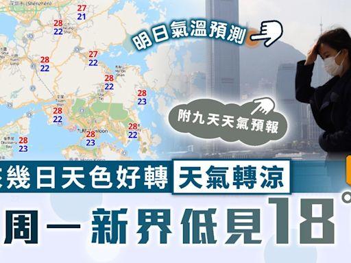天文台 ︳未來幾日天色好轉天氣轉涼 下周一新界低見18°C【附9天天氣預報】 - 晴報 - 家庭 - 家居