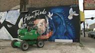 Artists work to fix defaced Adam Toledo mural in Little Village