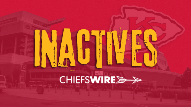 Inactives for Chiefs vs. Raiders, Week 11
