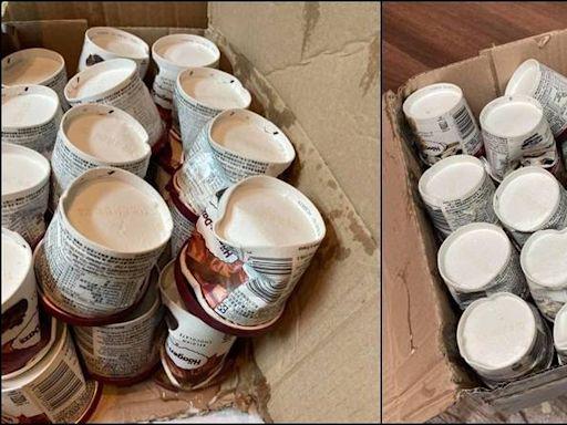 抱怨業者沒「冷凍配送」!中秋節前訂66杯哈根達斯全融化