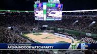 Bucks fans watch away game from inside Fiserv Forum
