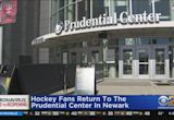 Hockey Fans Return To Prudential Center In Newark