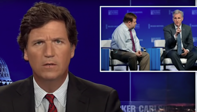 Fox News' Tucker Carlson is on the warpath against House Minority Leader Kevin McCarthy