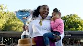 Serena Williams teaches Olympia to play tennis with skills 'grandpa taught me'
