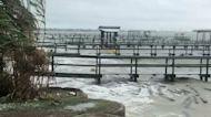 Tropical Storm Beta Lashes Coastline of Kemah, Texas
