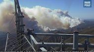 Large Smoke Clouds Waft Over Santa Barbara County as Alisal Fire Grows