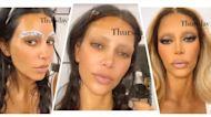 Watch Kim Kardashian's Shocking Eyebrow Transformation