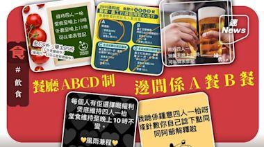 疫苗氣泡|餐廳今起實行「ABCD制」 唔打針唔用安心出行可以去邊食飯? | 蘋果日報