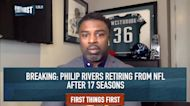 Nick Wright: Philip Rivers is retiring from the NFL but is not Hall of Fame quality | FIRST THINGS FIRST