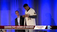 Giannis Antetokounmpo is now part owner of Milwaukee Brewers