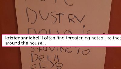 Kristen Bell's Daughter's 'Threatening Notes' Are A Whole Mood