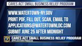 Application process explained for Watertown's Small Business Relief Program