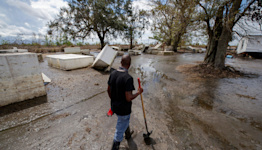 Ida devastation continues: Coroner says alligator killed missing man, thousands still without power and caskets stuck in mud