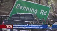No Serious Injuries After DC Pedestrian Bridge Collapses Along 295 SB