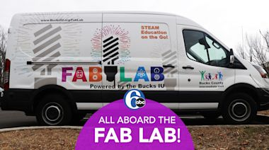 """Mobile """"Fab Lab"""" brings high-tech science experiments to Bucks County schools"""
