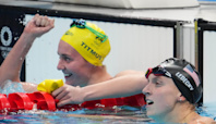Katie Ledecky wins silver medal as Ariarne Titmus claims gold in 400 freestyle at Olympics