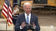 President Biden pitches infrastructure plan in Howell