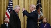 Donald Trump Handed Out National Medal Of Arts To Latest Honorees As Congress Moved To Impeach Him For...