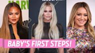 On the Move! Hilaria Baldwin and More Stars Watch Their Babies' 1st Steps