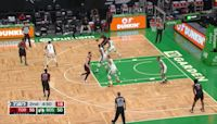 Norman Powell with a 2-pointer vs the Boston Celtics