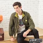 JEEP收納式保暖輕羽絨外套 -橄欖綠