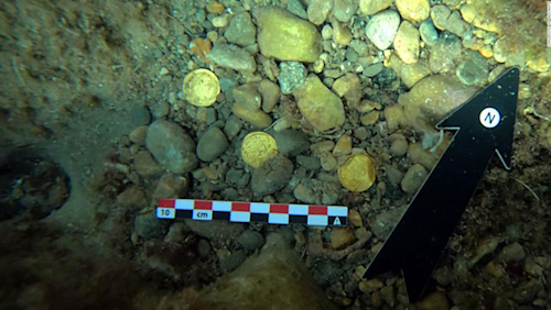 Amateur divers discover 'enormously valuable' hoard of Roman coins