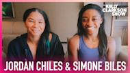 Simone Biles & Jordan Chiles Warm Up To 'Stronger' With Olympic Gymnasts On Gold Over America Tour