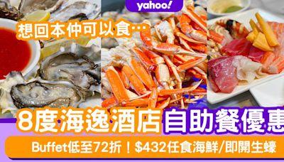 自助餐優惠 | 8度海逸酒店Buffet低至72折!$432/位任食蟹腳+即開生蠔